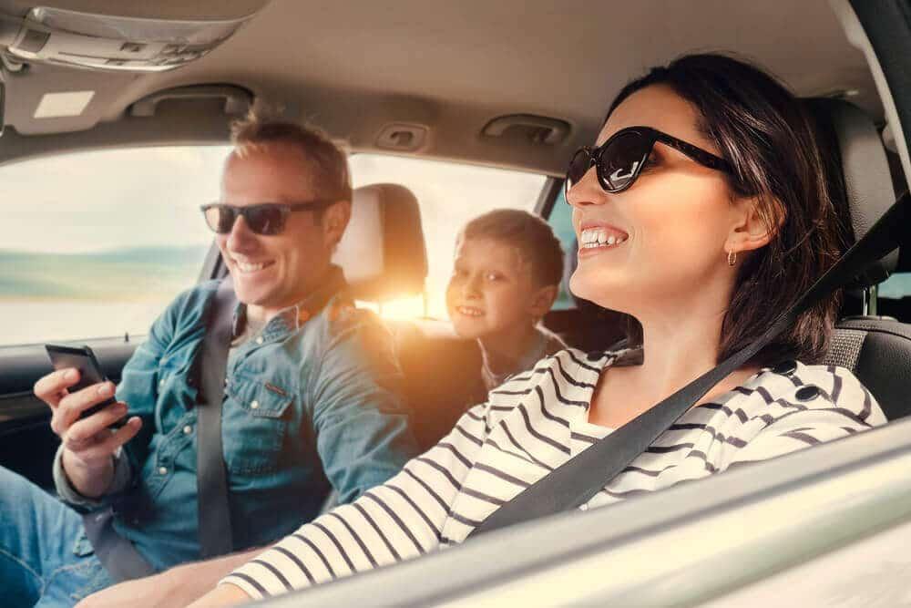 Familj som har finansierat i en bil med lån utan säkerhet