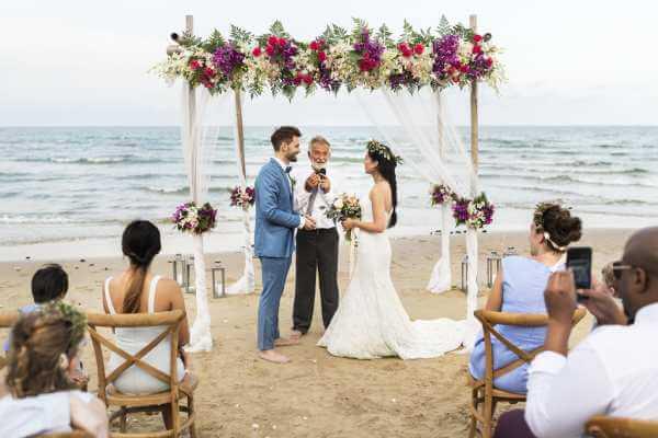 Bröllop på stranden