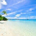 En sandstrand i Maldiverna.